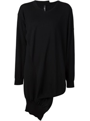 Barbara I Gongini Crossover Oversized Sweater Black