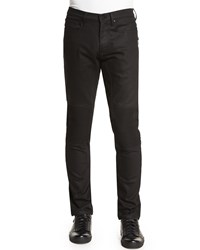 Belstaff Blackrod Slim Stretch Jeans With Knee Panels Black