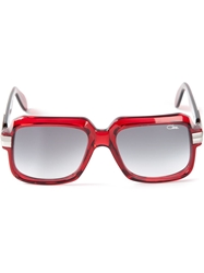 Cazal Square Sunglasses Red