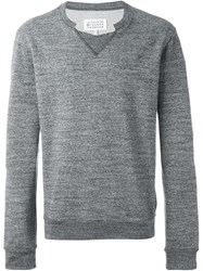Maison Martin Margiela Maison Margiela Cut Out Detail Sweatshirt Grey