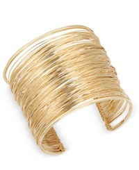 Inc International Concepts Wire Wrap Cuff Bracelet Only At Macy's Gold