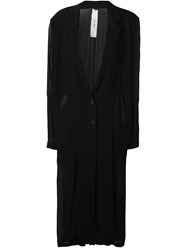 Damir Doma Buttoned Sheer Coat Black