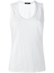 Bassike Scoop Neck Tank Top White