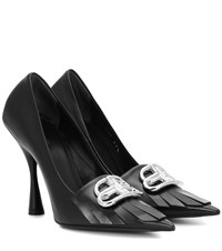 Balenciaga Bb Knife Leather Pumps Black