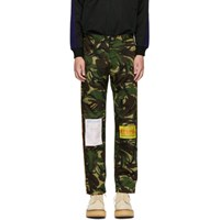 Martine Rose Green Camo Trousers