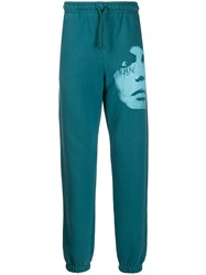 Misbhv Face Print Track Trousers Blue