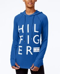 Tommy Hilfiger Logo Hoodie Only At Macy's Electric Blue