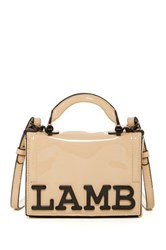 L.A.M.B. Inna Patent Leather Crossbody Beige
