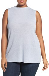 Eileen Fisher Plus Size Women's Tencel And Merino Shell India Sky