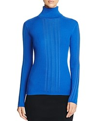 Dkny Ribbed Turtleneck Sweater Prussian