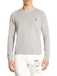 Polo Ralph Lauren Heathered Long Sleeve Pullover Grey
