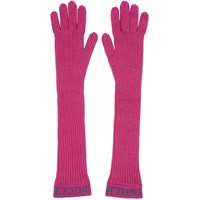 Emilio Pucci Pink Ribbed Wool Gloves