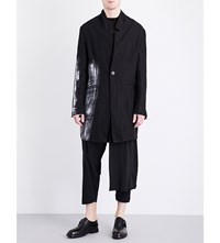 Isabel Benenato Hand Painted Linen Jacket Black