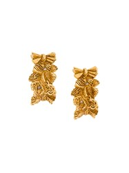 Christian Lacroix Vintage Crystal Baroque Earrings Yellow And Orange