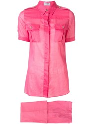 Chanel Pre Owned Military Two Piece Suit Pink