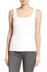 Bailey 44 Women's 'Fonda' Faux Leather Front Tank White
