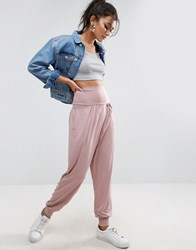 Asos Harem Pants In Jersey Mink Multi