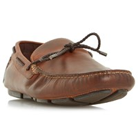 Dune Barnacle Leather Driving Loafers Leather