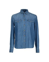 Prada Denim Denim Shirts Men Blue