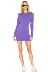 Cotton Citizen Tokyo Long Sleeve Mini Dress Purple