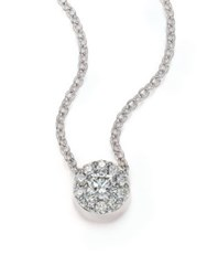 Hearts On Fire Fulfillment Diamond And 18K White Gold Pendant Necklace