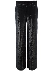 P.A.R.O.S.H. Sequin Trousers Black