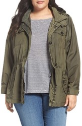 Michael Michael Kors Plus Size Women's Hooded Utility Anorak Olive