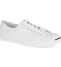 Reiss Jack Purcell Leather Low Top Trainers White