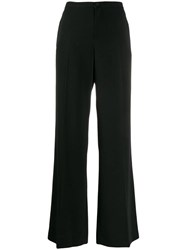 Alysi Creased Flared Trousers Black