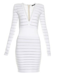 Balmain Deep V Neck Knit Dress