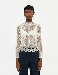 Farrow Aimee Lace Top In Antique White Size Small