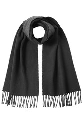 Polo Ralph Lauren Scarf With Virgin Wool And Cotton Black