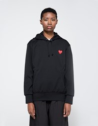 Comme Des Garcons Red Heart Play Sweatshirt Black