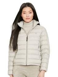Polo Ralph Lauren Down Filled Quilted Coat Chrome Grey
