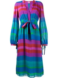 Etro Stripe Long Sleeve Dress