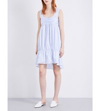 Victoria Beckham Cotton Poplin Dress Powder Blue
