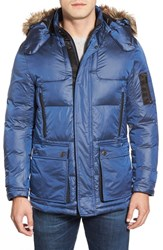 Men's Rainforest 'Ridgeville' Thermoluxe Puffer Jacket With Faux Fur Trim