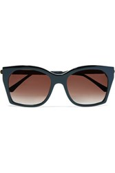 Thierry Lasry Glazy Square Frame Acetate And Metal Sunglasses Black