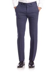 Armani Collezioni Slim Fit Flannel Dress Pants
