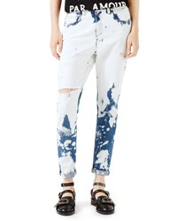 Gucci Hand Bleached Denim Pants White