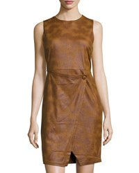 Philosophy Sleeveless Faux Suede Dress Brown