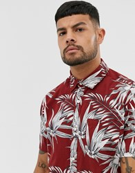 Jack And Jones Essentials Printed Short Sleeve Shirt In Red