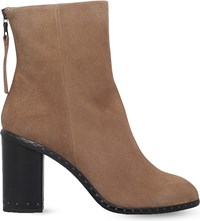 Rag And Bone Aspen Suede Heeled Ankle Boots Camel