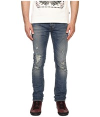 Just Cavalli Essential Distressed Five Pocket Denim Blue Denim