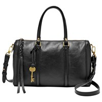 Fossil Kendall Leather Satchel Black