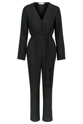 Sophie Long Sleeve Jumpsuit By Wyldr Black