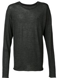 The Elder Statesman Longsleeved T Shirt Grey