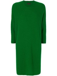 Oyuna Crew Neck Knitted Dress Women Cashmere One Size Green