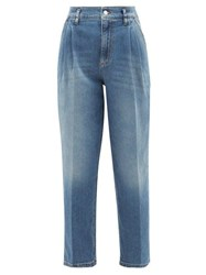 Red Valentino Redvalentino High Rise Pleated Tapered Jeans Denim