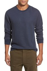 Relwen Raw Hem Crewneck Thermal Blue